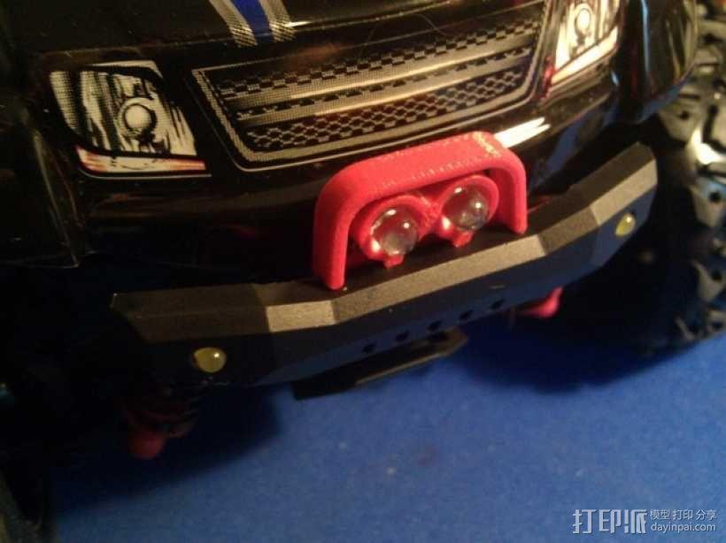 Latrax Teton遥控越野车 LED灯支架 3D模型  图1