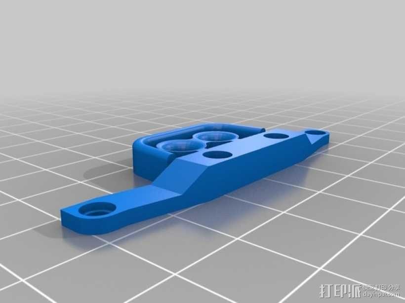 Latrax Teton遥控越野车 LED灯支架 3D模型  图2