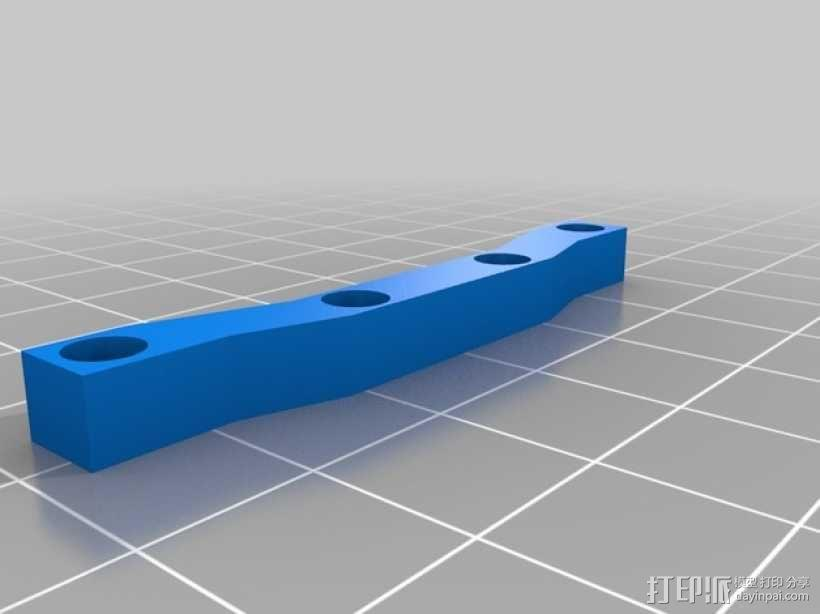 Latrax Teton遥控越野车 LED灯支架 3D模型  图3