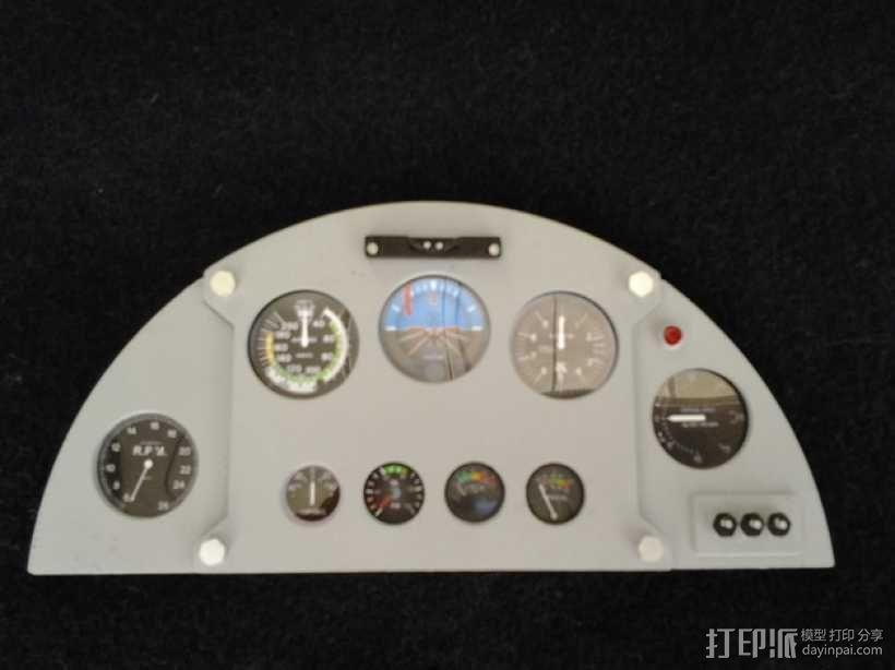 驾驶舱仪表板 3D模型  图1