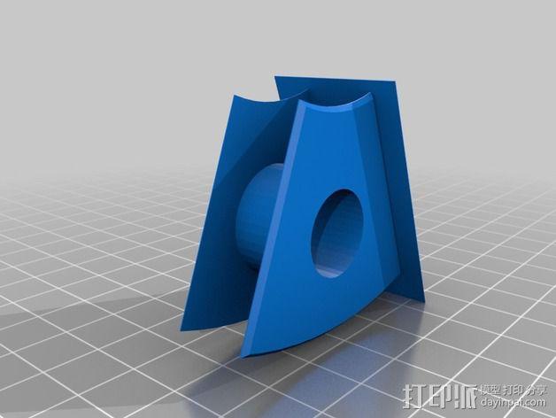 风力发电机  3D模型  图2