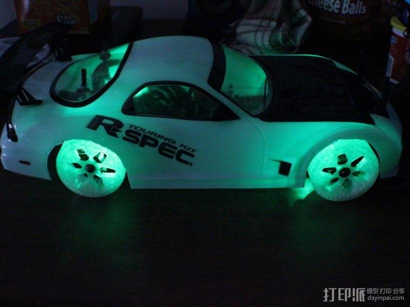 遥控汽车 漂移轮 3D模型  图1