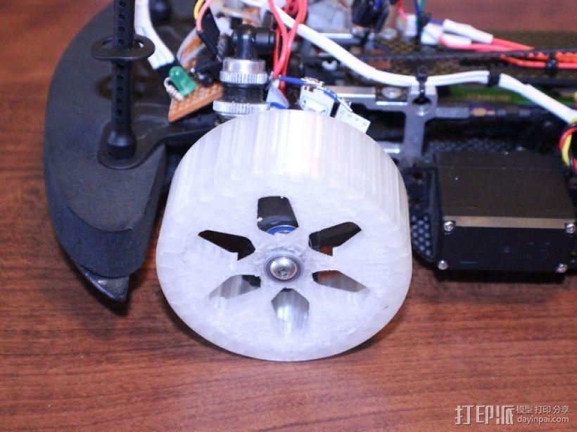 遥控汽车 漂移轮 3D模型  图3