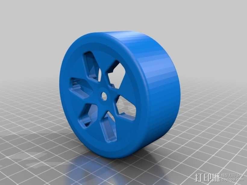 遥控汽车 漂移轮 3D模型  图2