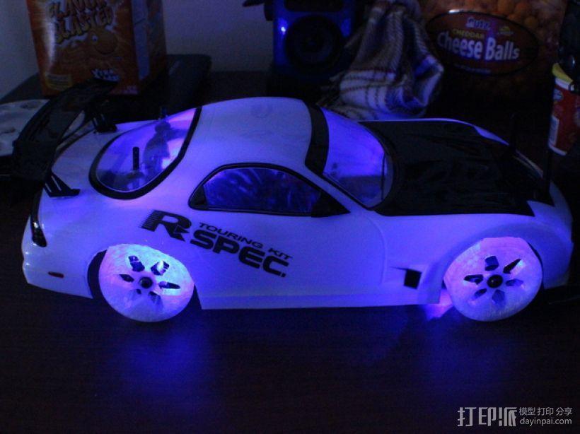 遥控汽车 漂移轮 3D模型  图5