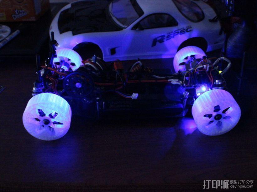 遥控汽车 漂移轮 3D模型  图4