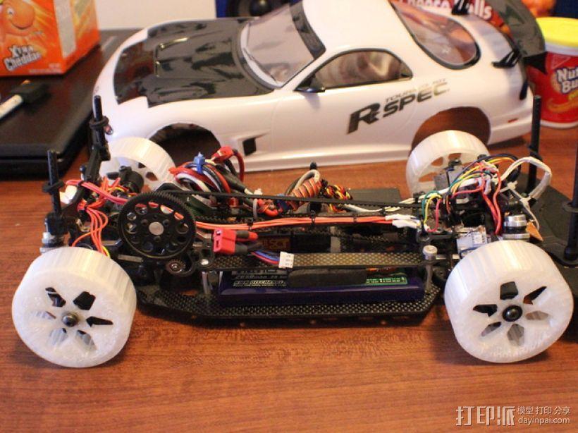 遥控汽车 漂移轮 3D模型  图7
