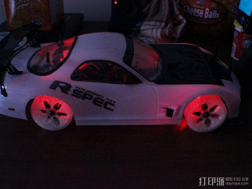 遥控汽车 漂移轮 3D模型  图10