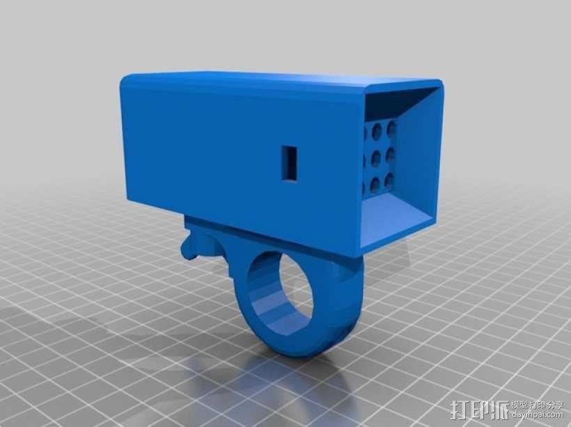 自行车车灯 3D模型  图4