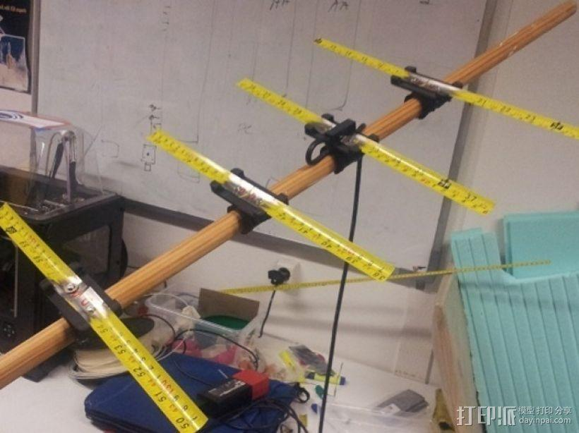 八木天线 支撑零部件 3D模型  图1