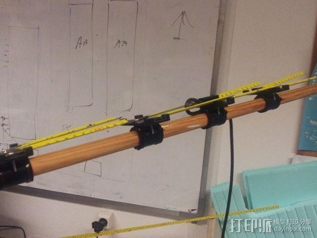 八木天线 支撑零部件 3D模型  图4