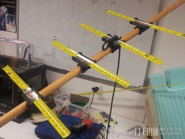 八木天线 支撑零部件 3D模型  图6