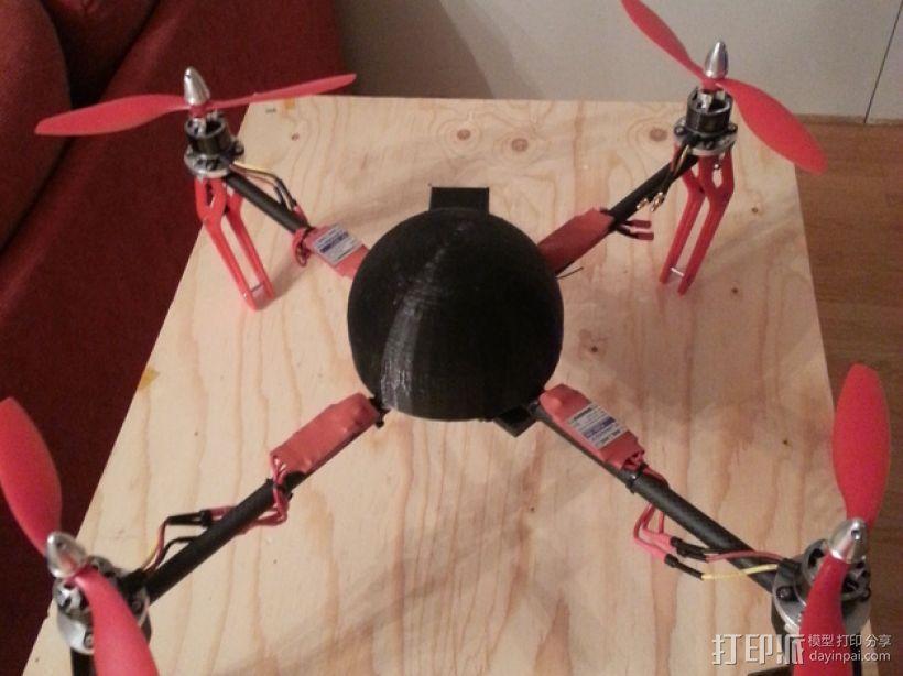 四轴飞行器零部件 3D模型  图1