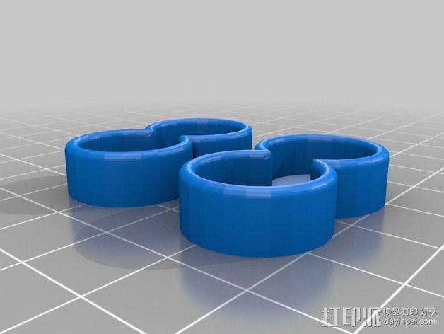 旅行用AA电池盒 3D模型  图2