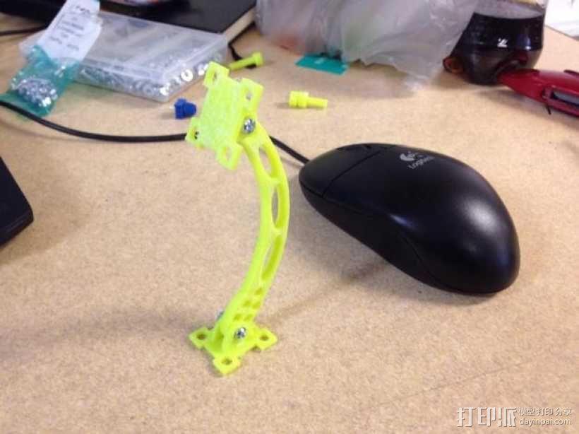 可调节传感器支架 3D模型  图1