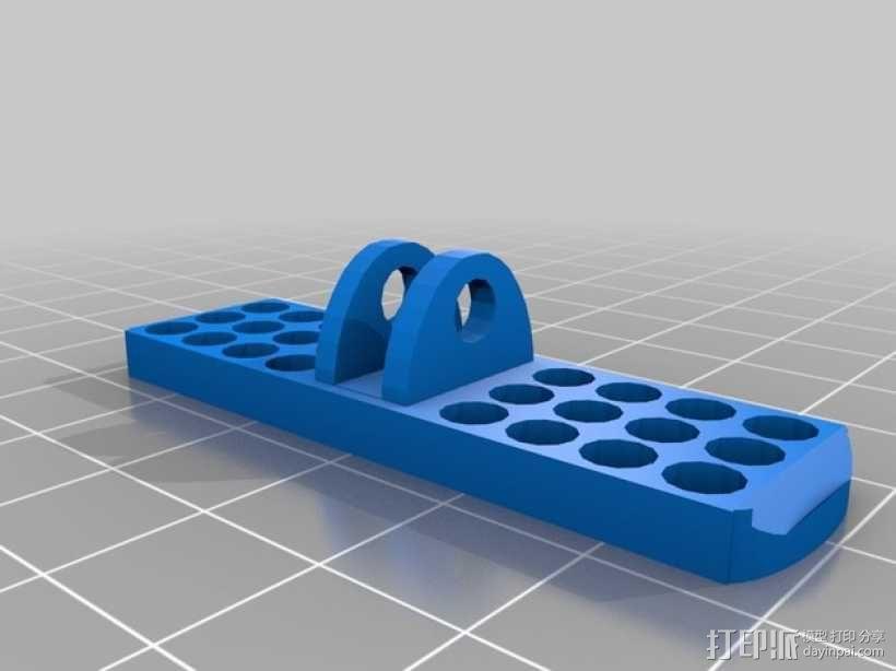 可调节传感器支架 3D模型  图2
