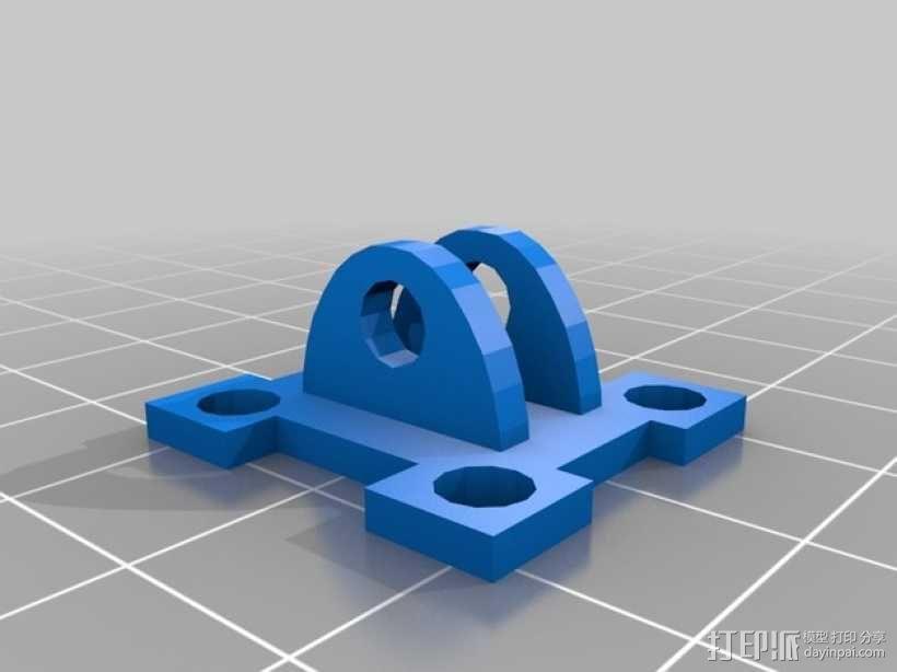 可调节传感器支架 3D模型  图8