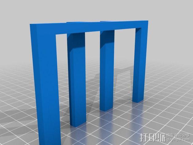 乐谱支架 3D模型  图2