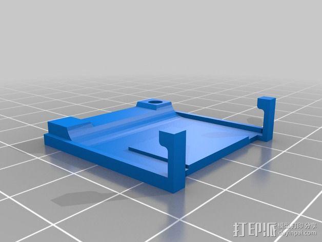树莓派 SD读卡器 3D模型  图2