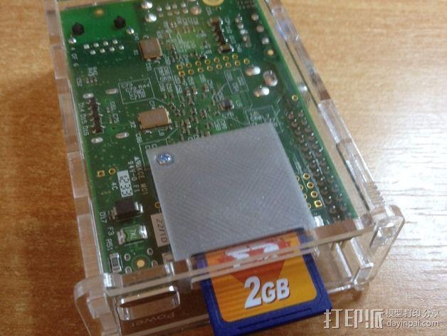 树莓派 SD读卡器 3D模型  图3