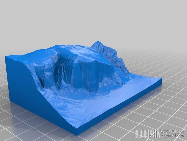 埃尔卡皮坦山脉地形图 3D模型  图1