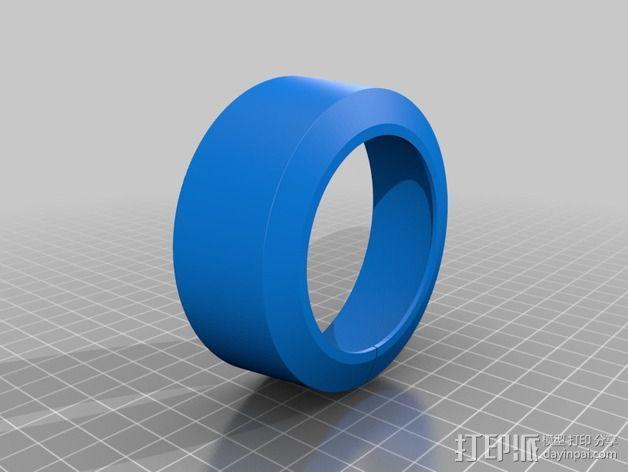 尼康相机镜头遮光罩 3D模型  图2