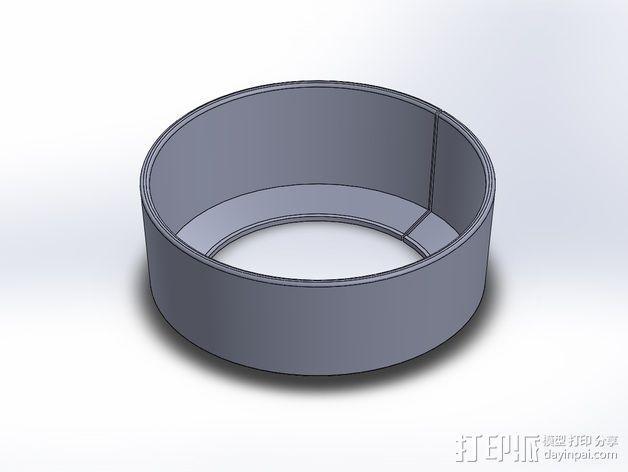 尼康相机镜头遮光罩 3D模型  图1