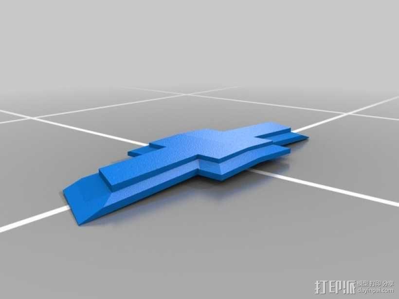 雪佛兰汽车 标志 3D模型  图1