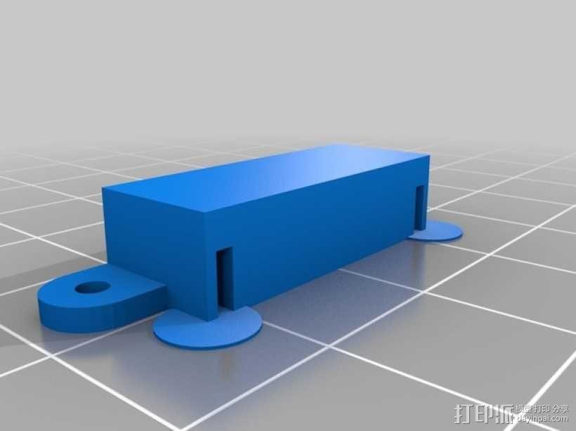 舌簧开关支架 3D模型  图2