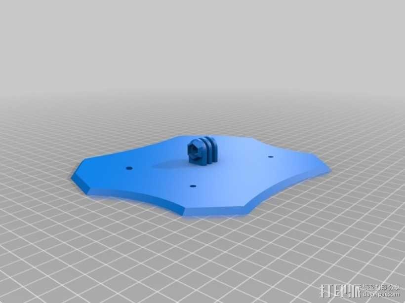 四轴飞行器主体部分 3D模型  图1
