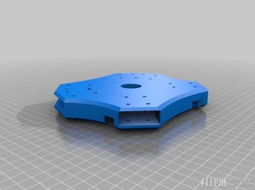 四轴飞行器主体部分 3D模型  图2