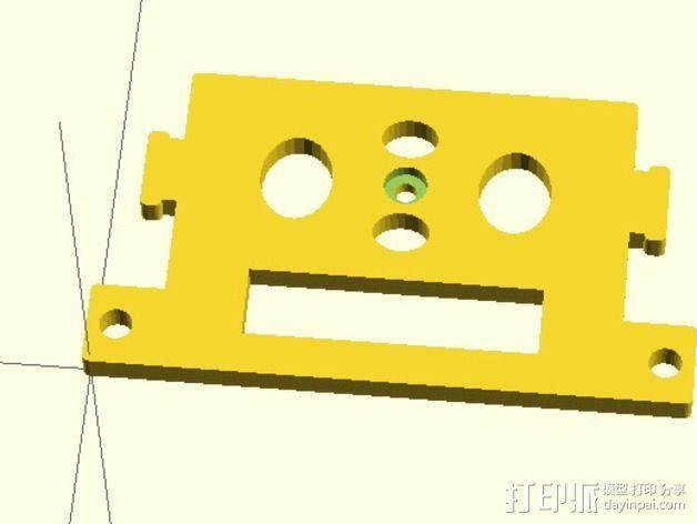 GoPro Hero2相机常平架顶板 3D模型  图1