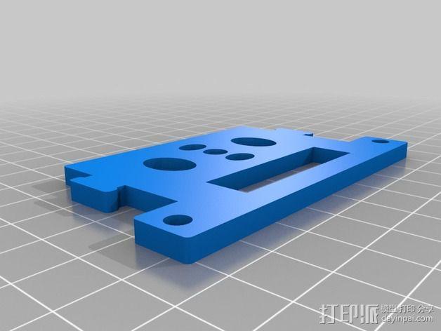 GoPro Hero2相机常平架顶板 3D模型  图2
