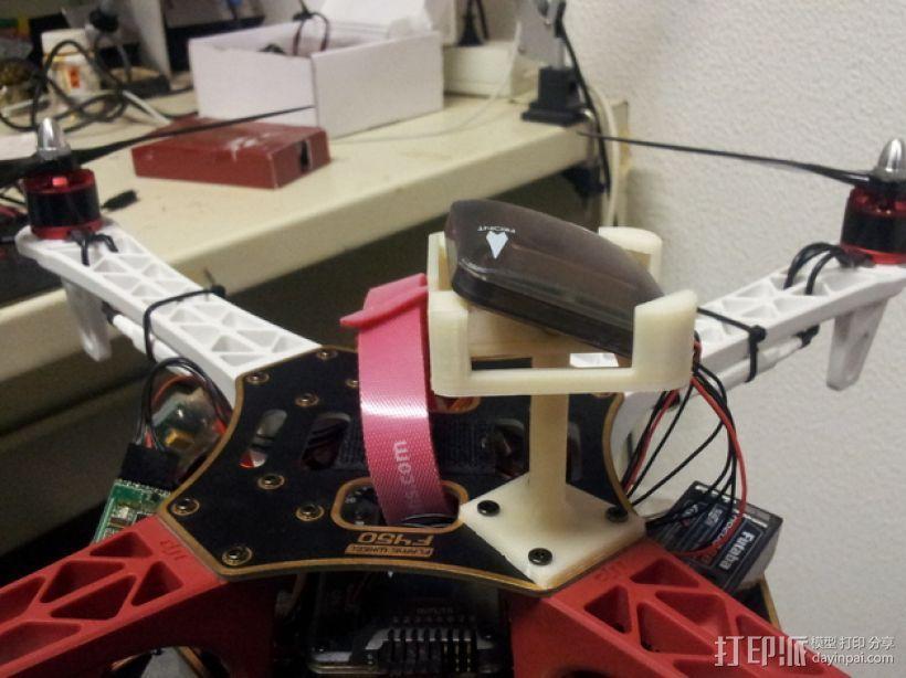 四轴飞行器 GPS模块支架 3D模型  图1