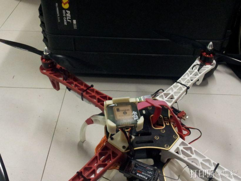 四轴飞行器 GPS模块支架 3D模型  图5