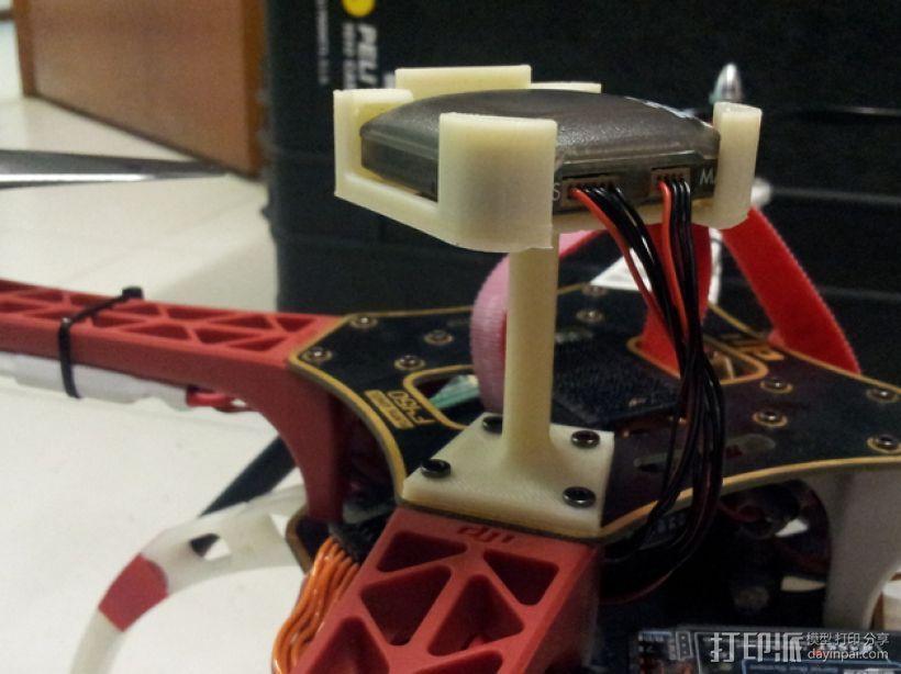 四轴飞行器 GPS模块支架 3D模型  图7