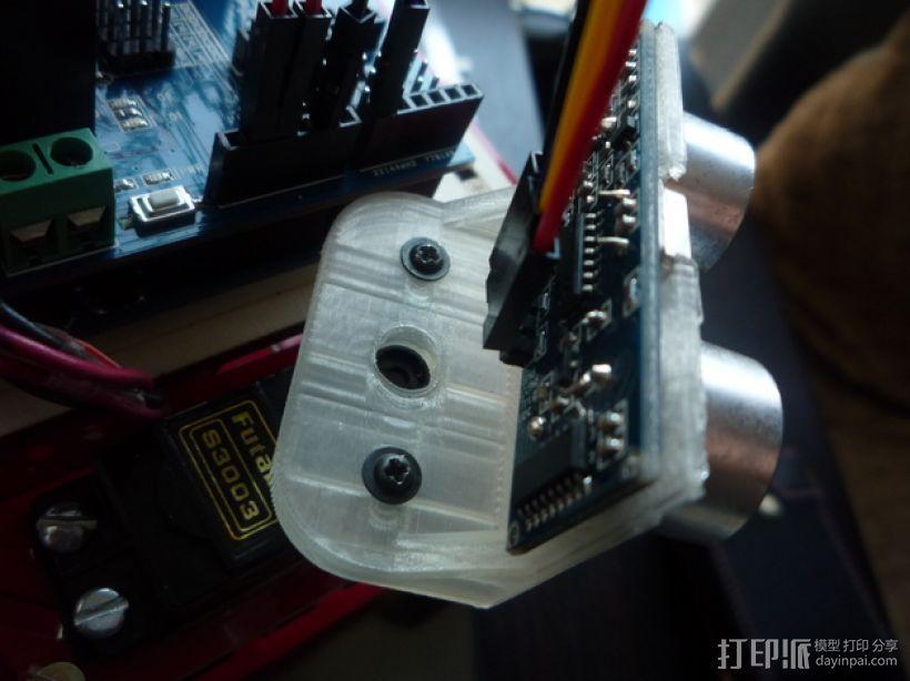 HC-SR04超声波传感器支架 3D模型  图7