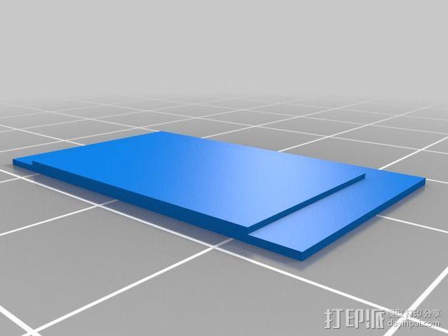 树莓派 SD卡槽板 3D模型  图3