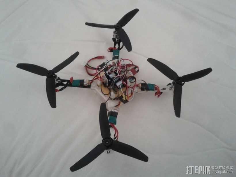 模块化四轴飞行器框架 3D模型  图1