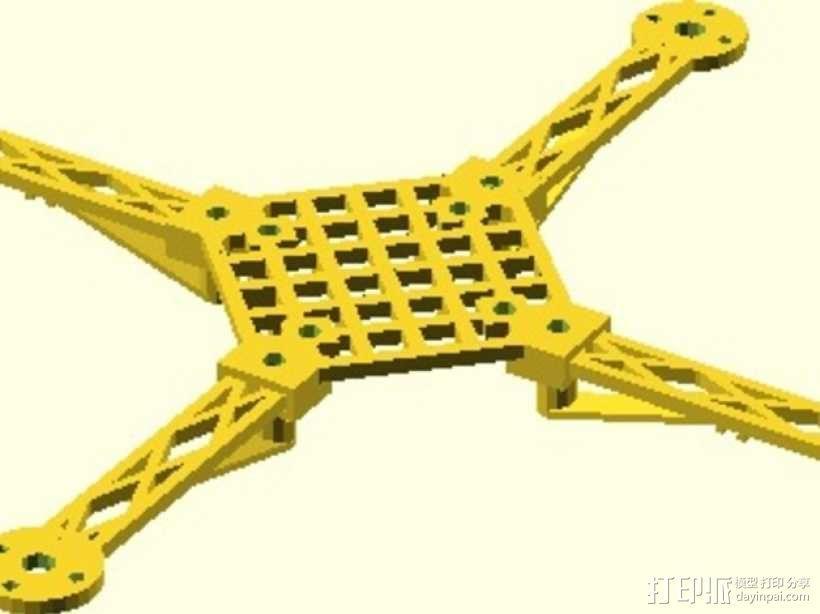 模块化四轴飞行器框架 3D模型  图2