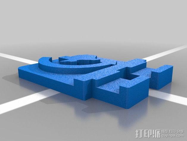 FRC电池盖 3D模型  图2
