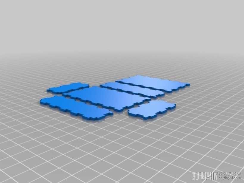 激光切割的参数化小盒 3D模型  图1