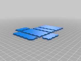 激光切割的参数化小盒 3D模型