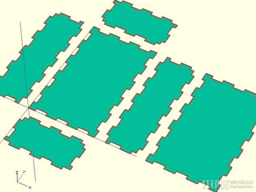 激光切割的参数化小盒 3D模型  图6