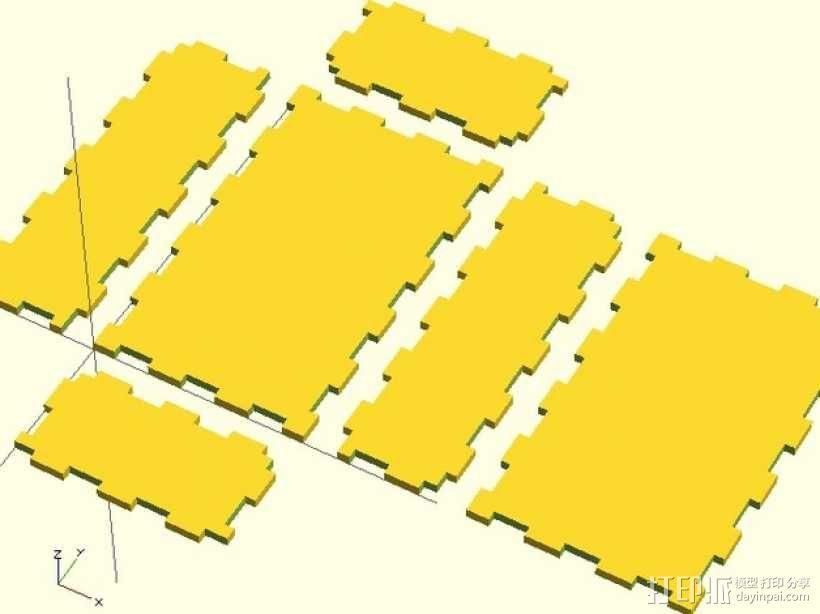 激光切割的参数化小盒 3D模型  图3