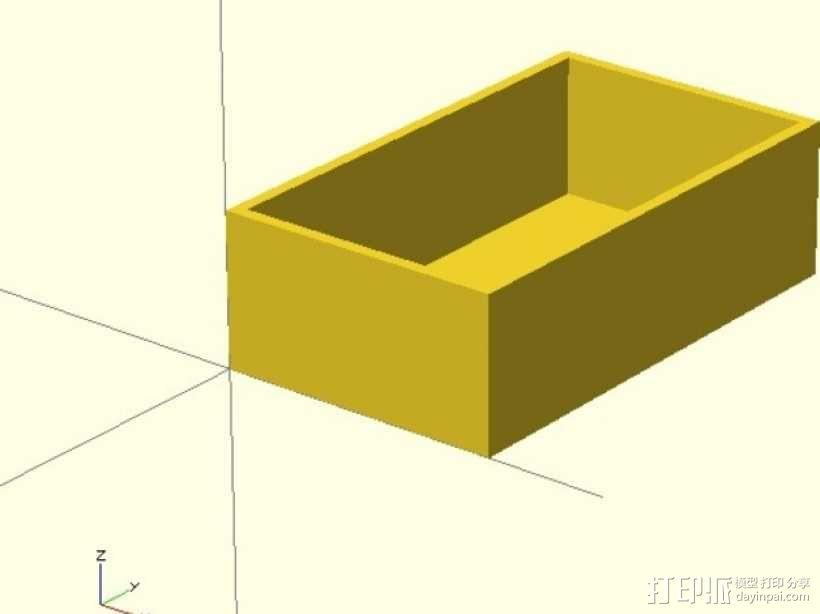 激光切割的参数化小盒 3D模型  图2