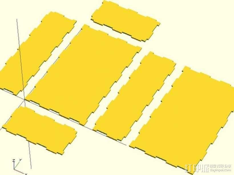 激光切割的参数化小盒 3D模型  图5