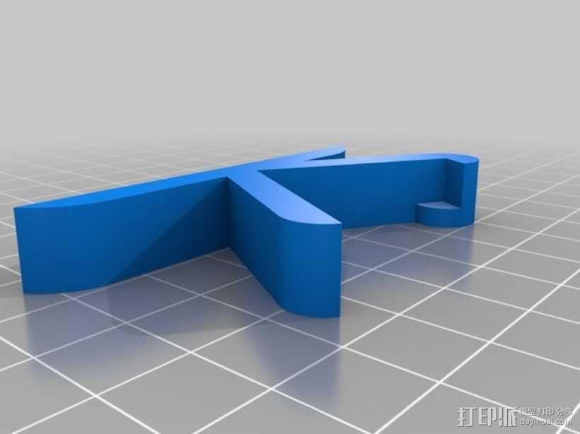 树莓派和Adafruit PiTFT支架 3D模型  图6
