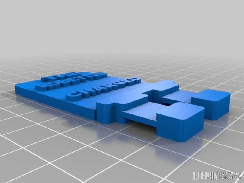 FRC电源接头 3D模型  图3