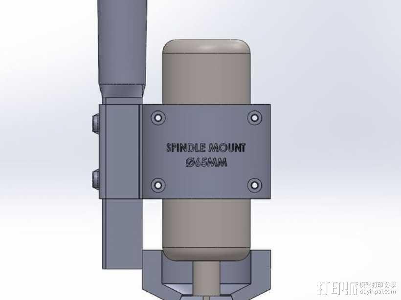 ShapeOko2数控设备主轴支架 3D模型  图4
